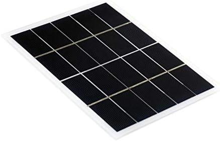 Hylotele 3W 5V Solarpanel Polykristalline Silizium-Solarzelle DIY Wasserdichtes Camping Portable Power Solarpanel Kompatibel für Straßenlaternen Gartenlampenlüfterpumpe Polykristallines Silizium-Sola