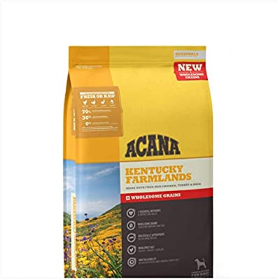 ACANA Kentucky Farmlands Wholesome Grains Dry Dog Food Formula 11.5 Pound Bag (New)