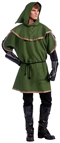 Forum Novelties Men's Sherwood Forest Archer Costume, Multi, One (Robin Hood Tunic)