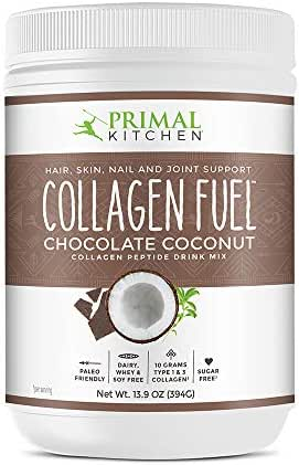 Primal Kitchen Collagen Fuel Protein Mix, Chocolate Coconut,Supports Healthy Hair, Skin, Nails and Joints, Promotes Muscle Repair, 13.9 Ounce (Pack of 1)
