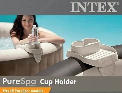 Intex B01K8AWN8I PureSpa Cup Holder and Refreshment Tray (2 Pack), Multi by Intex (Image #1)