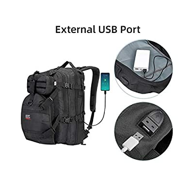 Helmet Backpack, Snowmobile Helmet Bag 37L Motorcycle Backpack Bag with USB-charge Port, Large Capacity Waterproof Helmet Holder Luggage Storage Bag Men for Riding Motorbike Outdoor: Automotive