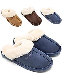 Womens Slipper, Fluffy Slip On House Slippers Clog Soft Indoor Outdoor Slipper for Winter