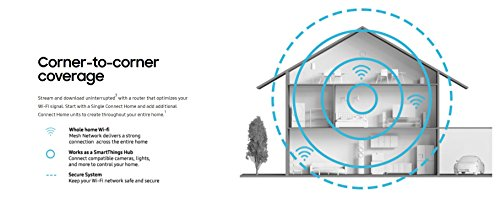 Samsung Connect Home AC1300 Smart Wi-Fi System (3-Pack), Works as a SmartThings Hub by Samsung (Image #5)