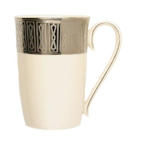 Lenox Tuxedo Platinum Ivory China Accent Mug (Tuxedo Lenox China Platinum Ivory)