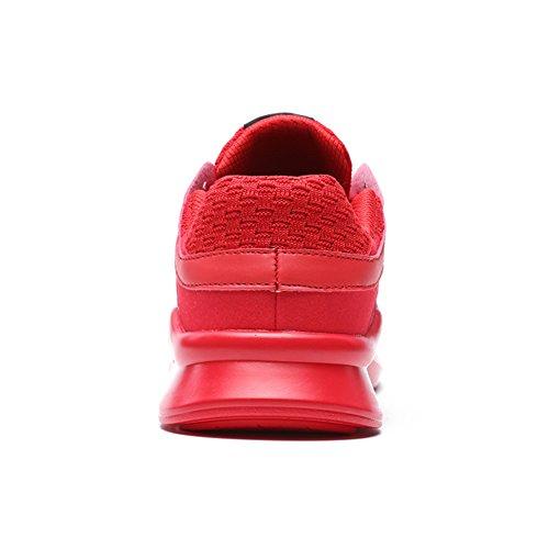 Air Course Chaussures Plein En Baskets Hommes De Rouge Sport Lacets Tennis Casual Senbore Respirant wCg7Xq55