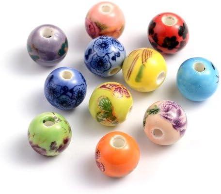 Charming Beads Pacco 10 x Misto Porcellana 10mm Tondo Perline HA27215