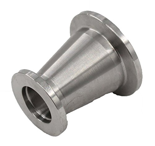 KF25 (NW25) to KF16 (NW16) Flange vacuum conical reducer Stainless steel 304 Compatible with Vacuum Fittings by MOTOKU (Image #1)