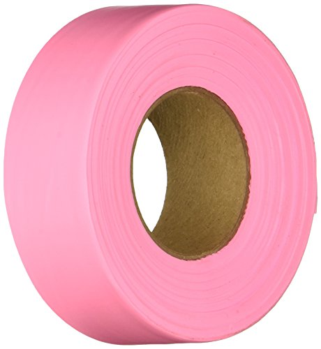 Keson FTP Ribbon Marker Flagging Tape, 1-3/16-Inch by 300-Foot, (Pink Flagging Tape)