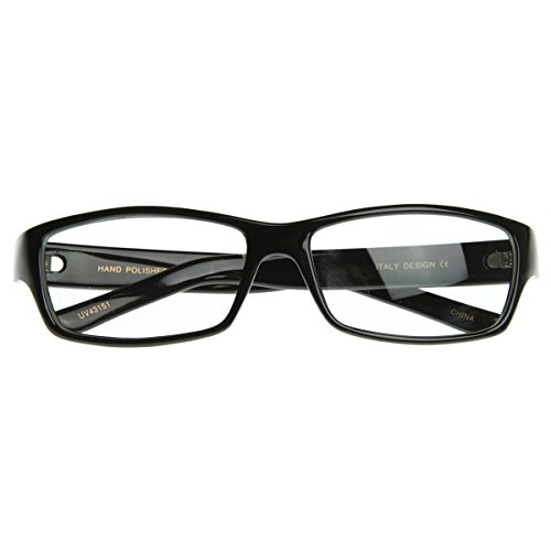 zerouv-rectangular-thin-frame-basic-style-rx-able-quality-clear-lens-eyewear-glasses-black