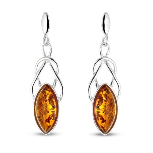 Tousmesbijoux Boucles d'oreilles Argent 925/00 et ambre