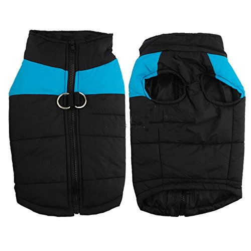 HuoGuo NEW Winter Dog Clothes Waterproof Warm Pet Vest Jacket Coat For Small Medium Large Dogs roupas para S M L XL XXL Blue XL -