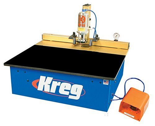 Kreg DK1100 TP 1-1/4 Horsepower Bench Pnuematic Fully-Automatic Single Spindle Pocket Machine by Kreg