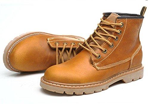 señora de y Sra primavera botas de otoño zapatos yellow brown elevadores botas Martin casuales qFn5Ia