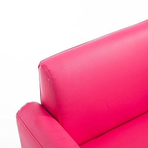 Qaba 33 Kids PU Leather Storage Sofa - Pink by Qaba (Image #8)