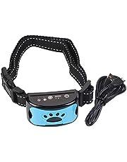 Nova coleira de treinamento de cães, dispositivo de controle de latidos recarregável à prova d'água coleira anti-latidos detecção de latidos (azul)