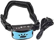 Nova coleira de treinamento de cães, dispositivo de controle de latidos recarregável à prova d'água coleir