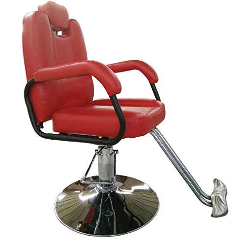 Barber Chair DIOE Hydraulic Recliner for Hair Salon,Salon Beauty Equipment,Special Tattoo Chair,Can Be Raised and Lowered, Rotatable, High-Grade Leather