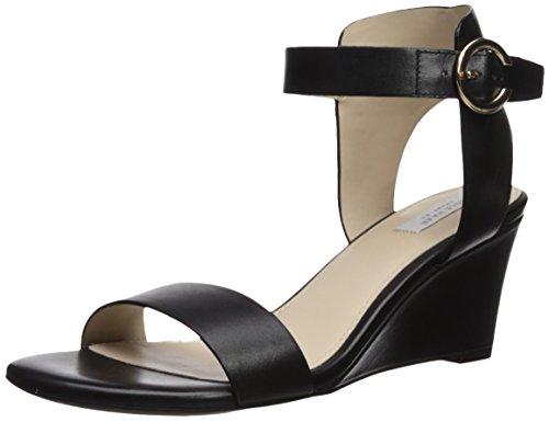 Cole Haan Women's Blakely Wedge Sandal, Black Leather, 10.5 B US