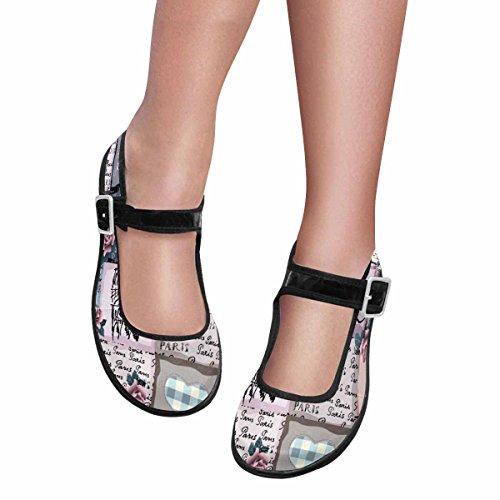 InterestPrint Womens Comfort Mary Jane Flats Casual Walking Shoes Multi 5 uiVhkxnpvO