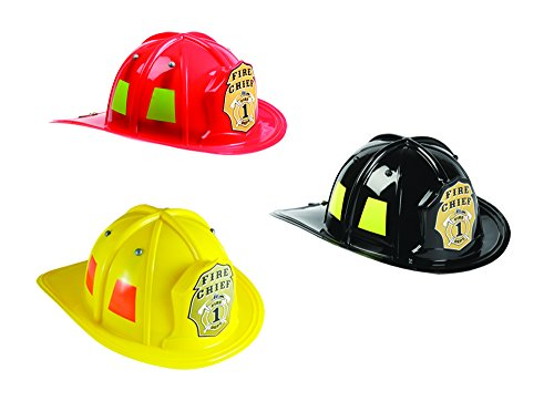 Aeromax Jr. Firefighter Helmet Assortment Black, Red, and Yellow