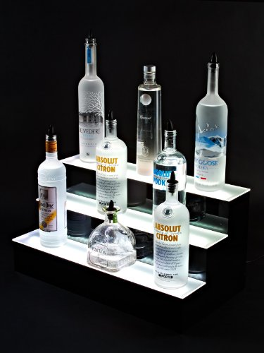 24'' inch 3 Tier Lighted Liquor Shelves Bottle Display LED  Home bar Lights by Armana Productions (Image #4)
