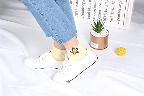 Amazon.com: DHmart Pure Cotton Socks Womens Low Cut Ankle Socks Female Star Short Socks Chaussettes Femmes Calcetines Mujer Sokken: Kitchen & Dining