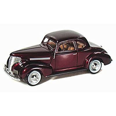 1939 Chevy Coupe, Burgundy - Motormax 73247 -1/24 Scale Diecast Model Toy Car: Toys & Games [5Bkhe0804463]
