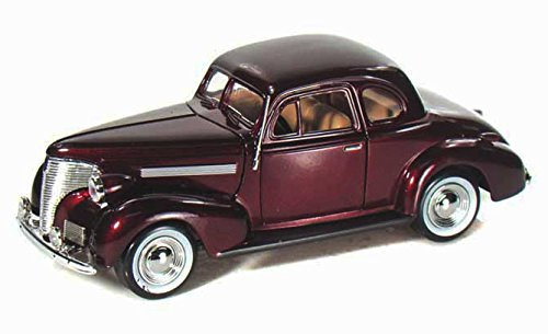 1939 Chevy Coupe, Burgundy - Motormax 73247 -1/24 scale Diecast Model Toy Car ()