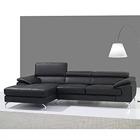 Amazon.com: JM Furniture A973B Leather Left Mini Sectional ...
