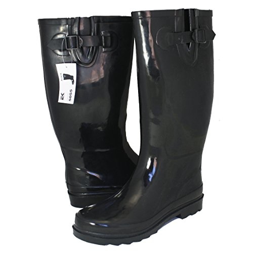 Eurbak Eurback Rain boots 100% waterproof in three shaft heights and seven patterns 30-Day Guarantee Black 14in GBZ9H72