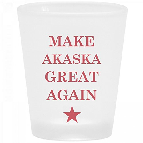 Make Akaska Great Again: Frosted Shot Glass