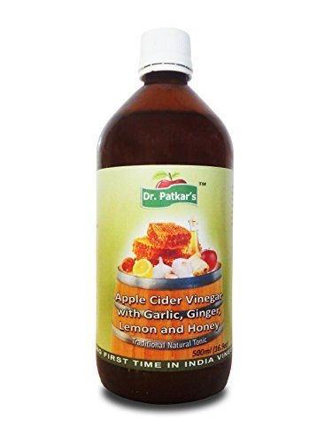 Dr. Patkar's Apple Cider Vinegar with Garlic, Ginger, Lemon and Honey (Garlic Vinegar)