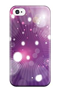 Durable Purple Abstract 3d Nfl Logos Vector Back Case/cover For Iphone 4/4s