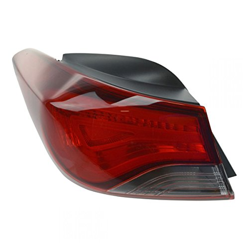 Tail Light Taillight Rear Outer Quarter Left Driver Side LH for Elantra