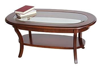 Couchtisch Oval Mit Glasplatte Amazonde Kche Haushalt