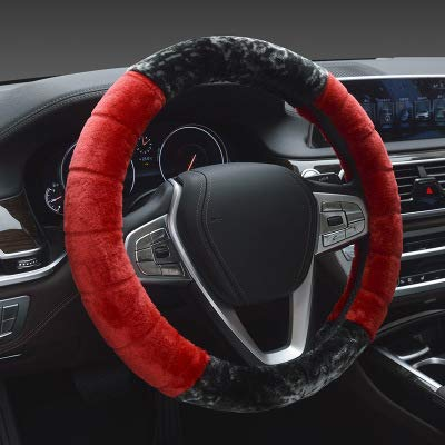 amazon com heifen car steering wheel cover soft plush luxury plushamazon com heifen car steering wheel cover soft plush luxury plush two color stitching anti skid wheel pad cover can be used for 15inch, 38cm sports \u0026
