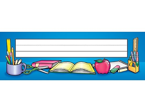Teacher Created Resources School Tools Name Plates, Flat (1109)