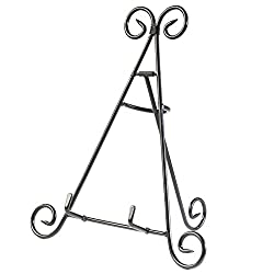 HUJI Sturdy Iron Display Stand Holder for Home Kitchen Decoration Platters, Pictures, Frames and Books. (1, 12)