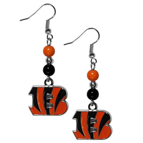 NFL Cincinnati Bengals Fan Bead Dangle Earrings (Ring Nfl Siskiyou Gifts)
