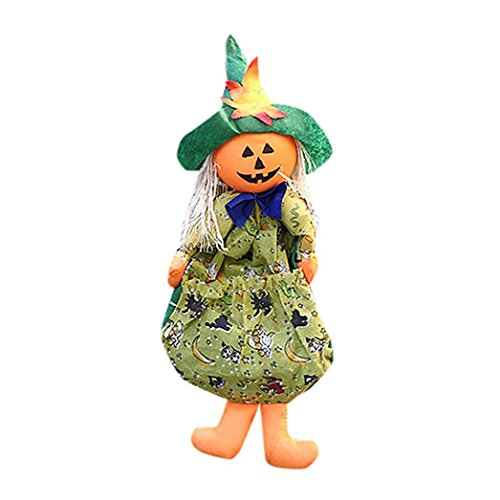 Aitena Environmentally Pumpkin Witches Halloween Pendant (Grayscale Costume Hair)