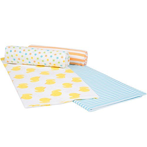 Duck Baby Bedding (Gerber Baby Boys 4 Pack Flannel Receiving Blanket, Ducks, One Size)