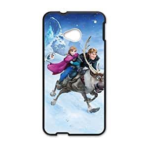 Happy Frozen Princess Anna Kristoff Olaf Sven Cell Phone Case for HTC One M7