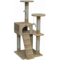 Go Pet Club Cat Tree Furniture Beige