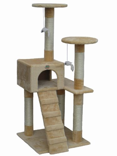 Go Pet Club Cat Tree Furniture Beige 41DAcsWFnJL