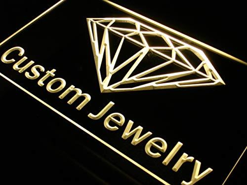 (ADVPRO Custom Jewelry Shop Diamond LED Neon Sign Yellow 16 x 12 Inches st4s43-j377-y)