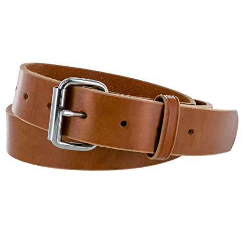 Hanks Gunner - USA Made Concealed Carry CCW Leather Gun Belt - 100 Year Warranty - 14 Ounce - Natural - 40