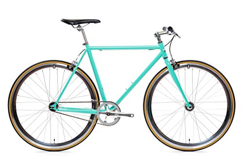 State Bicycle Core Line - Durable Steel Frame ft. Seat Stay Rack Mounts - Fixed Gear/Single Speed Bike Riser Bar