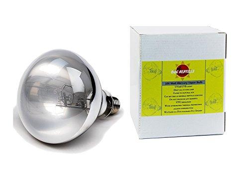 Reptile Light/UVA UVB Reptile bulb for Reptile and Amphibian -Excellent 100 Watt Mercury Vapor Bulb