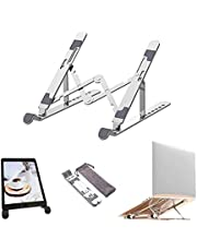 Laptop Stand, Laptop Holder Riser Computer Tablet Stand, 7 Angles Adjustable Aluminum Ergonomic Foldable Portable Desktop Holder Compatible with MacBook, iPad, HP, Dell, Lenovo 10-15.6 inches, Silver